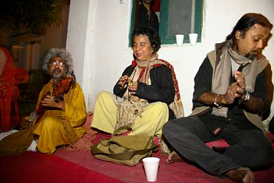 Renowned Baul Paban Das in New Year Party 2007_08